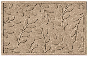"Home Accents Aqua Shield 1'11"" x 2'11"" Brittany Leaf Indoor/Outdoor Doormat, Beige, large"
