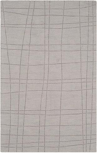 """Surya 3'3"""" x 5'3"""" Area Rug, Light Gray, large"""