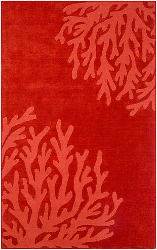 "Surya 3'3"" x 5'3"" Area Rug, Dark Red, rollover"