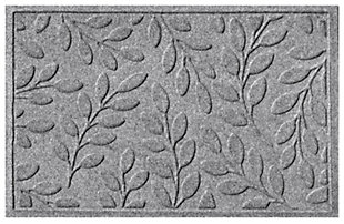 "Home Accents Aqua Shield 1'11"" x 2'11"" Brittany Leaf Indoor/Outdoor Doorm, Gray, large"