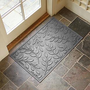 "Home Accents Aqua Shield 1'11"" x 2'11"" Brittany Leaf Indoor/Outdoor Doormat, Gray, rollover"