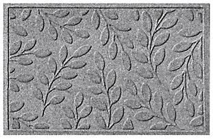 "Home Accents Aqua Shield 1'11"" x 2'11"" Brittany Leaf Indoor/Outdoor Doormat, Gray, large"
