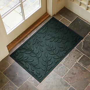 "Home Accents Aqua Shield 1'11"" x 2'11"" Brittany Leaf Indoor/Outdoor Doorm, Green, large"