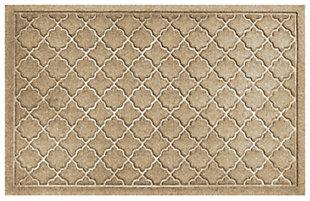 """Home Accents Aqua Shield 1'11"""" x 2'11"""" Cordova Indoor/Outdoor Doormat, Beige, large"""