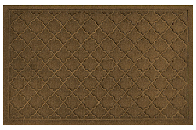 "Home Accents Aqua Shield 1'11"" x 2'11"" Cordova Indoor/Outdoor Doormat, Brown, large"