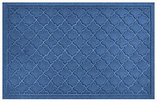 """Home Accents Aqua Shield 1'11"""" x 2'11"""" Cordova Indoor/Outdoor Doormat, Blue, large"""