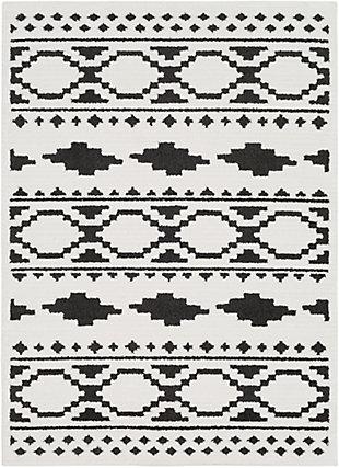 "Surya 6'7"" X 9'6"" Area Rug, Black/Charcoal/White, large"