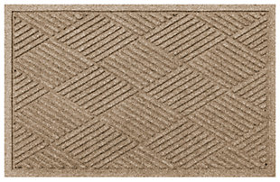 "Home Accents Aqua Shield 2' x 2'10"" Diamonds Indoor/Outdoor Doormat, Beige, large"