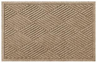 """Home Accents Aqua Shield 2' x 2'10"""" Diamonds Indoor/Outdoor Doormat, Beige, large"""