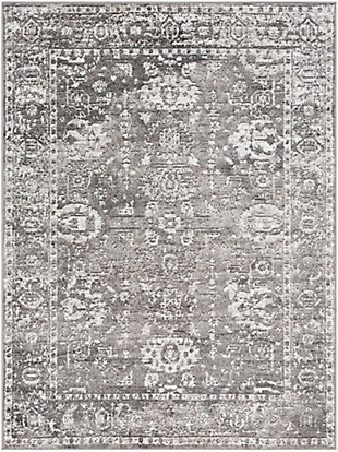"Surya 6'7"" x 6'7"" Area Rug, Charcoal/Gray/White, rollover"