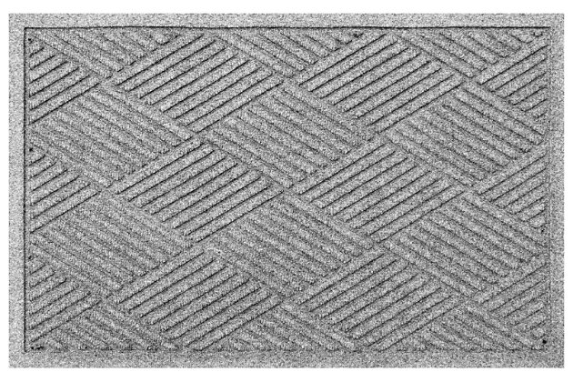 "Home Accents Aqua Shield 2' x 2'10"" Diamonds Indoor/Outdoor Doormat, Gray, large"