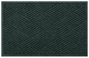 """Home Accents Aqua Shield 2' x 2'10"""" Indoor/Outdoor Diamonds Doormat, Green, large"""