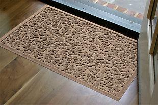 """Home Accents Aqua Shield 1'11"""" x 3' Fall Day Indoor/Outdoor Doormat, Beige, large"""