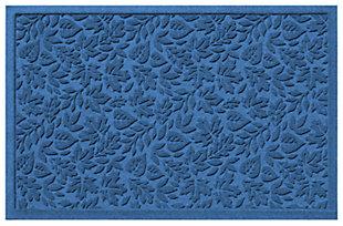 "Home Accents Aqua Shield 1'11"" x 3' Fall Day Indoor/Outdoor Doormat, Blue, large"