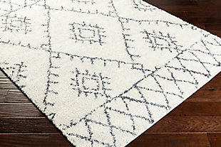 "Global Area Rug 5'3"" x 7'3"" Rug, White/Medium Gray, rollover"