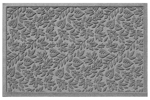 "Home Accents Aqua Shield 1'11"" x 3' Fall Day Indoor/Outdoor Doormat, Gray, large"