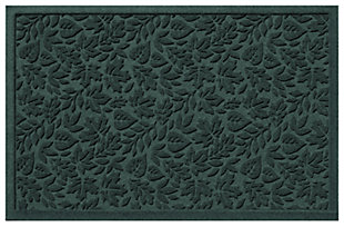 "Home Accents Aqua Shield 1'11"" x 3' Fall Day Indoor/Outdoor Doormat, Green, large"