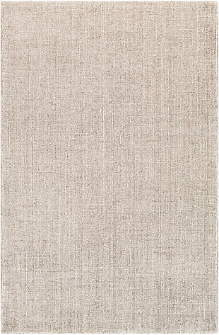 """World Needle 5' x 7'6"""" Rug, Medium Gray/White, large"""