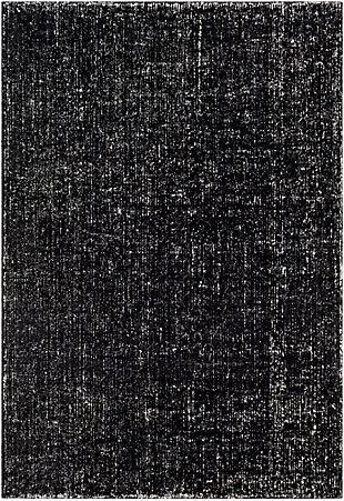 "Modern Area Rug 5' x 7'6"" Rug, Black/White, large"
