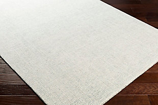 "Modern Area Rug 5' x 7'6"" Rug, Medium Gray/White, large"