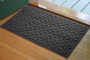 "Home Accents Aqua Shield 1'10"" x 2'10"" Ellipse Indoor/Outdoor Doormat, Gray, large"