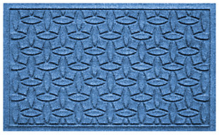"Home Accents Aqua Shield 1'10"" x 2'10"" Ellipse Indoor/Outdoor Doormat, Blue, large"