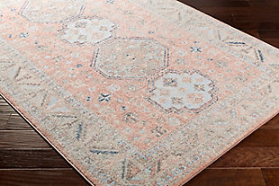 """Traditional Area Rug 5'3"""" x 7'3"""" Rug, Multi, rollover"""