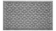 """Home Accents Aqua Shield 1'10"""" x 2'10"""" Ellipse Indoor/Outdoor Doormat, Gray, large"""