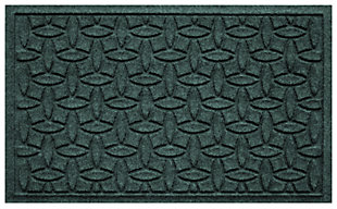 """Home Accents Aqua Shield 1'10"""" x 2'10"""" Ellipse Indoor/Outdoor Doormat, Green, large"""