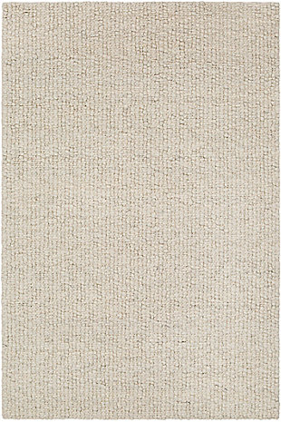 "Modern Area Rug 5' x 7'6"" Rug, Cream/Charcoal, large"