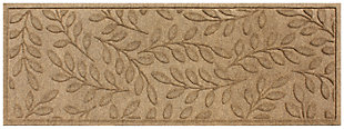 "Home Accents Aqua Shield 1'10"" x 4'11"" Brittany Leaf Runner, Beige, large"