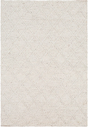 "Modern Area Rug 5' X 7'6"" Rug, White, large"