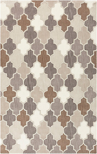 Cottage Area Rug 5' x 8' Rug, Multi, large