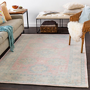 """Traditional Area Rug 5' x 7'6"""" Rug, Multi, rollover"""