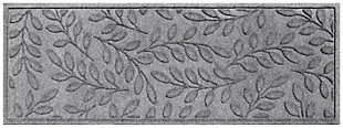 "Home Accents Aqua Shield 1'10"" x 4'11"" Brittany Leaf Runner, Gray, large"