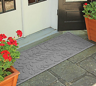 "Home Accents Aqua Shield 1'10"" x 4'11"" Brittany Leaf Runner, Gray, rollover"