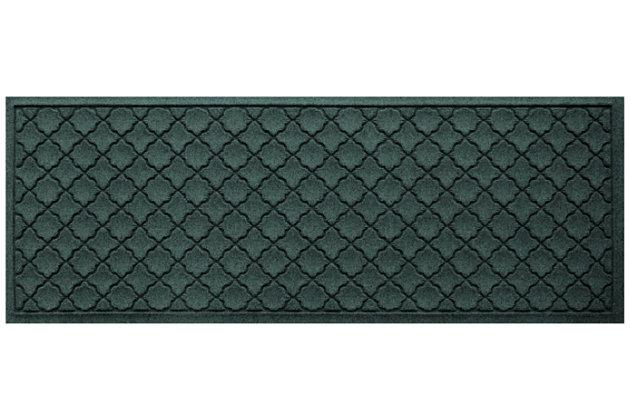"Home Accents Aqua Shield 1'10"" x 4'11"" Cordova Runner, Green, large"