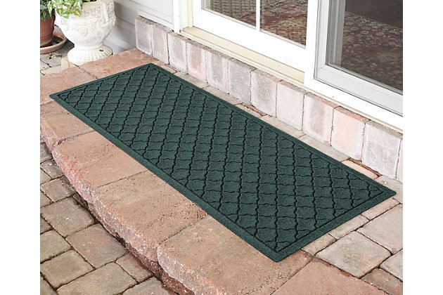 "Home Accents Aqua Shield 1'10"" x 4'11"" Cordova Runner, Green, large"