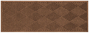 "Home Accents Aqua Shield 1'10"" x 4'11"" Diamonds Runner, Brown, large"