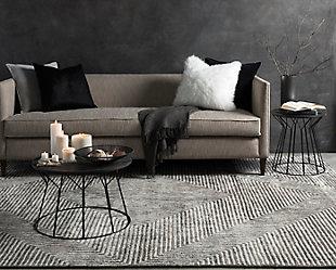 "Modern Area Rug 5' x 7'6"" Rug, Light Gray/Charcoal, rollover"