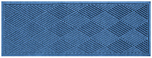 "Home Accents Aqua Shield 1'10"" x 4'11"" Diamonds Runner, Blue, large"
