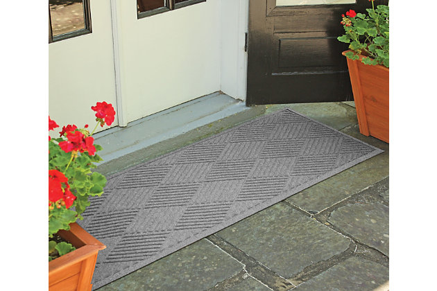 "Home Accents Aqua Shield 1'10"" x 4'11"" Diamonds Runner, Gray, large"