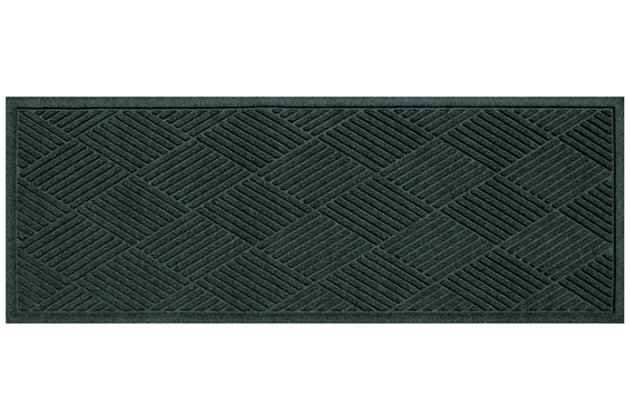 "Home Accents Aqua Shield 22"" x 60"" Diamonds Runner, Green, large"