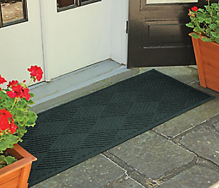 "Home Accents Aqua Shield 22"" x 60"" Diamonds Runner, Green, large"