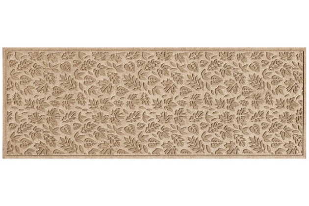 "Home Accents Aqua Shield 1'10"" x 4'11"" Fall Day Runner, Beige, large"