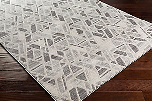 Modern Area Rug 5'3 x 7'3 Rug, Multi, large