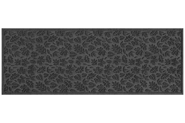 "Home Accents Aqua Shield 1'10"" x 4'11"" Fall Day Runner, Charcoal, large"