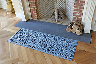 "Home Accents Aqua Shield 1'10"" x 4'11"" Fall Day Runner, Blue, large"