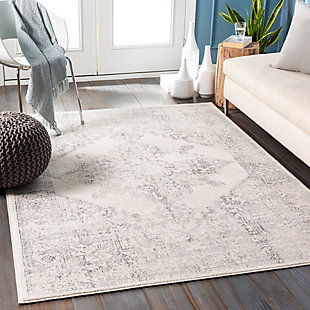 """Traditional Area Rug 5'3"""" x 7'1"""" Rug, Multi, rollover"""