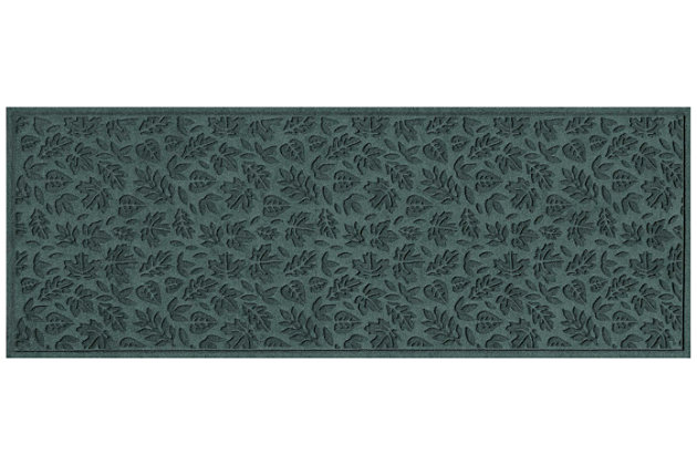 "Home Accents Aqua Shield 1'10"" x 4'11"" Fall Day Runner, Green, large"